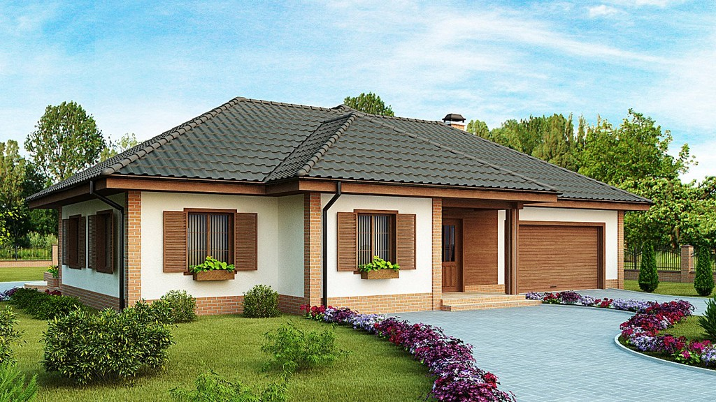 Projekti enonadstropnih betonskih blokov brezplačno